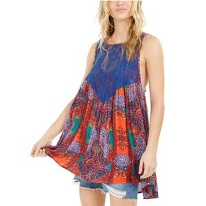 NWT Free People Count Me In Trapeze Top